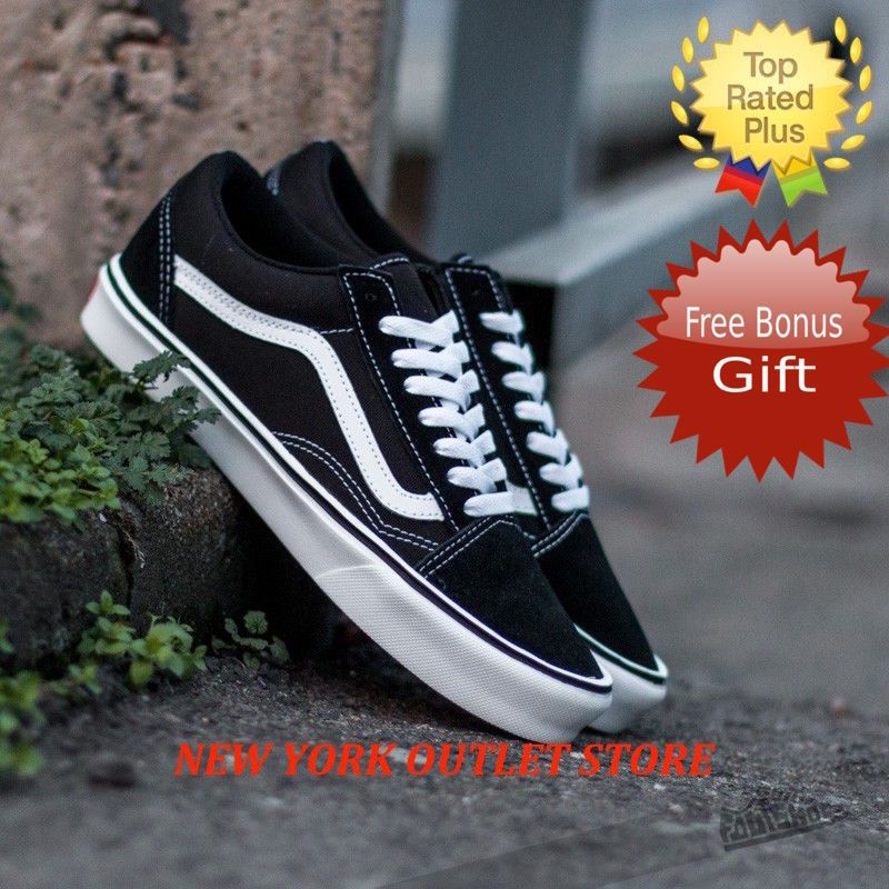 0edf31c690 fashion VANS Old Skool Classic Skate Shoes Men Women Unisex Suede Canvas  Black FREE GIFT