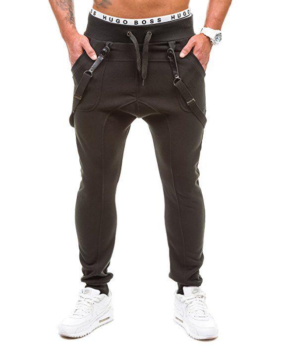 865c73eed3 BOLF Hombre Pantalones Jogging Gym Tiempo Libre Bolsillos BBG 1106 Negro M   6F6