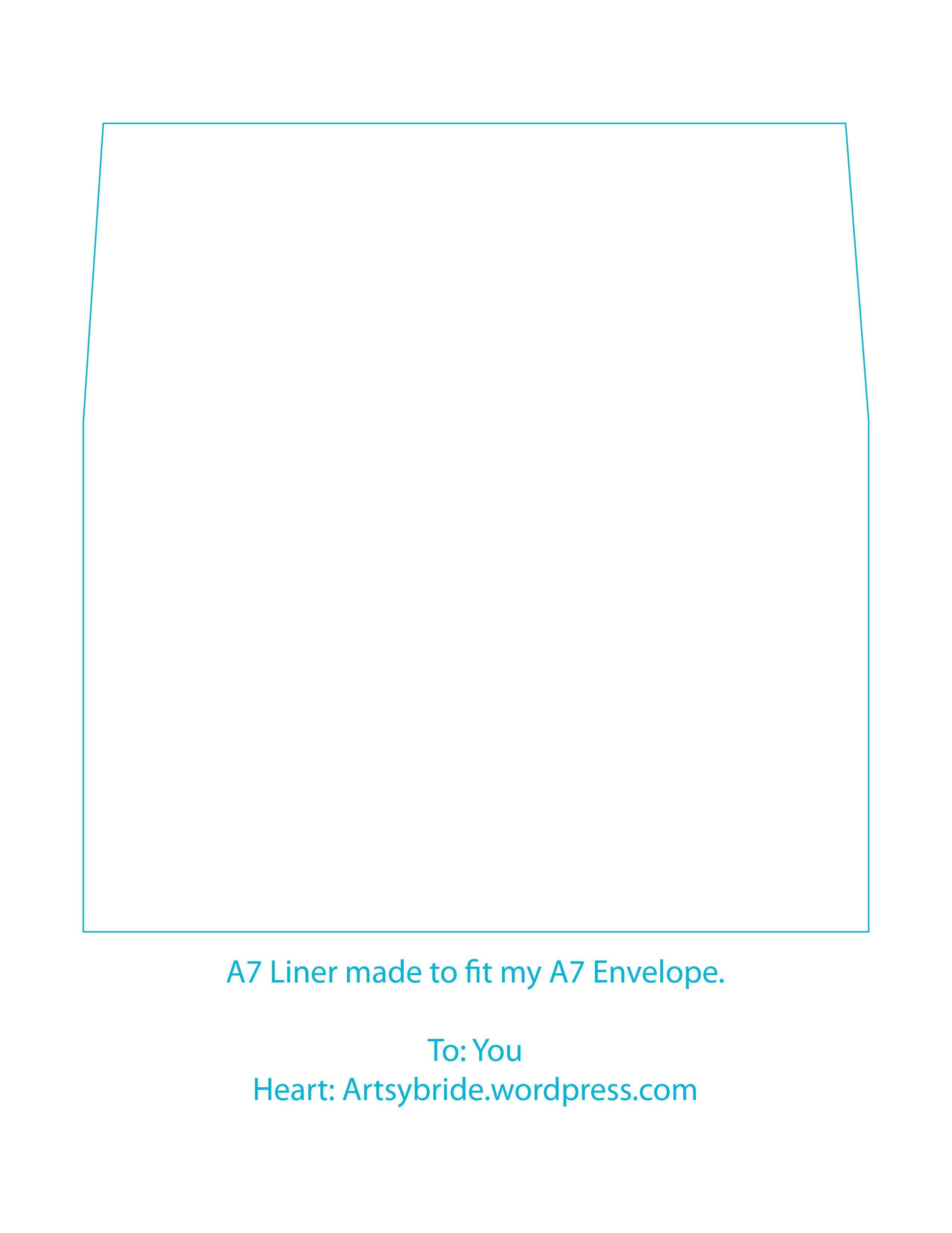 Diy Envelopes Liners A7 Envelope Liner Template Envelope