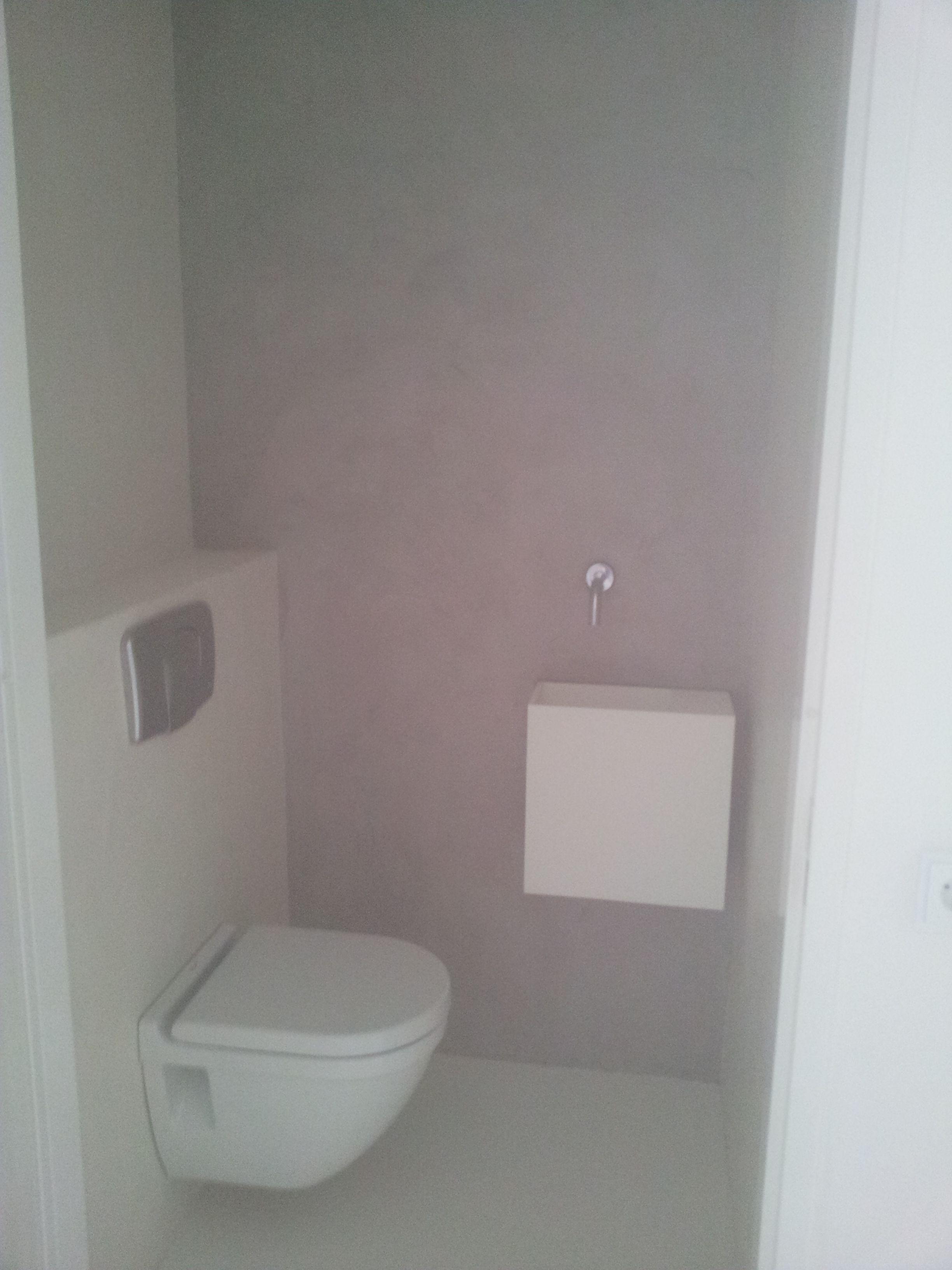 Toilet afgewerkt met microbeton, 2 kleurig. | Toilet | Pinterest ...
