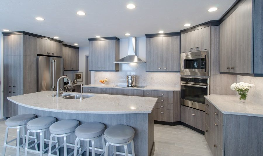 Upscale Kitchen Grey Cabinetry