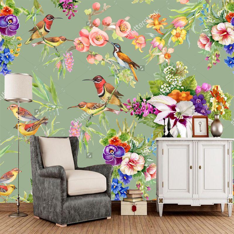 Cheap wallpaper bird Buy Quality sofa for