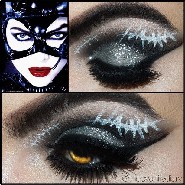 EEEK! One of our favorite characters of all time! TheeVanityDiary used Sugarpill Bulletproof and Tako eyeshadows to create this tribute look to Michelle Pfeiffers Catwoman (the only one that matters!)