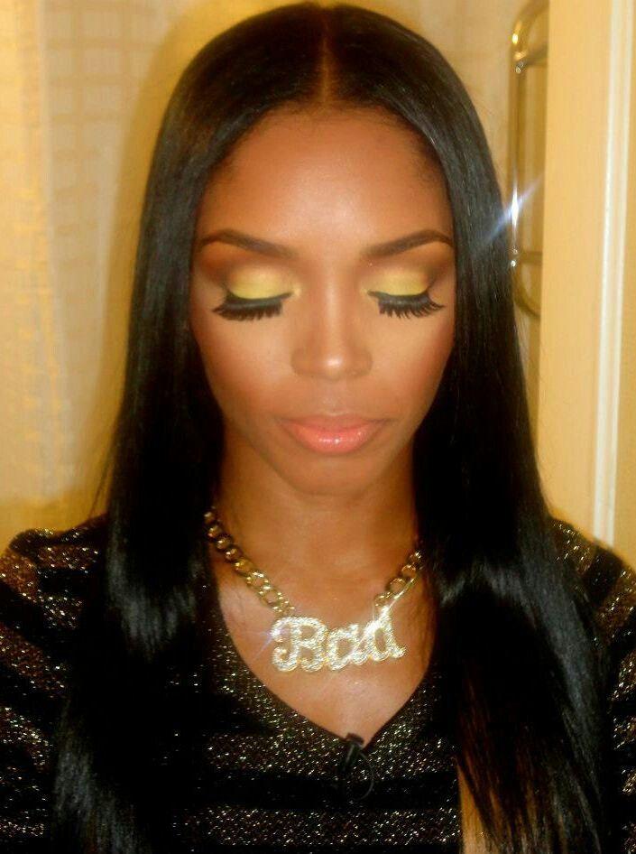 Rasheeda Frost Yellow And Brown Make Up Show Makeup Hair Makeup Makeup