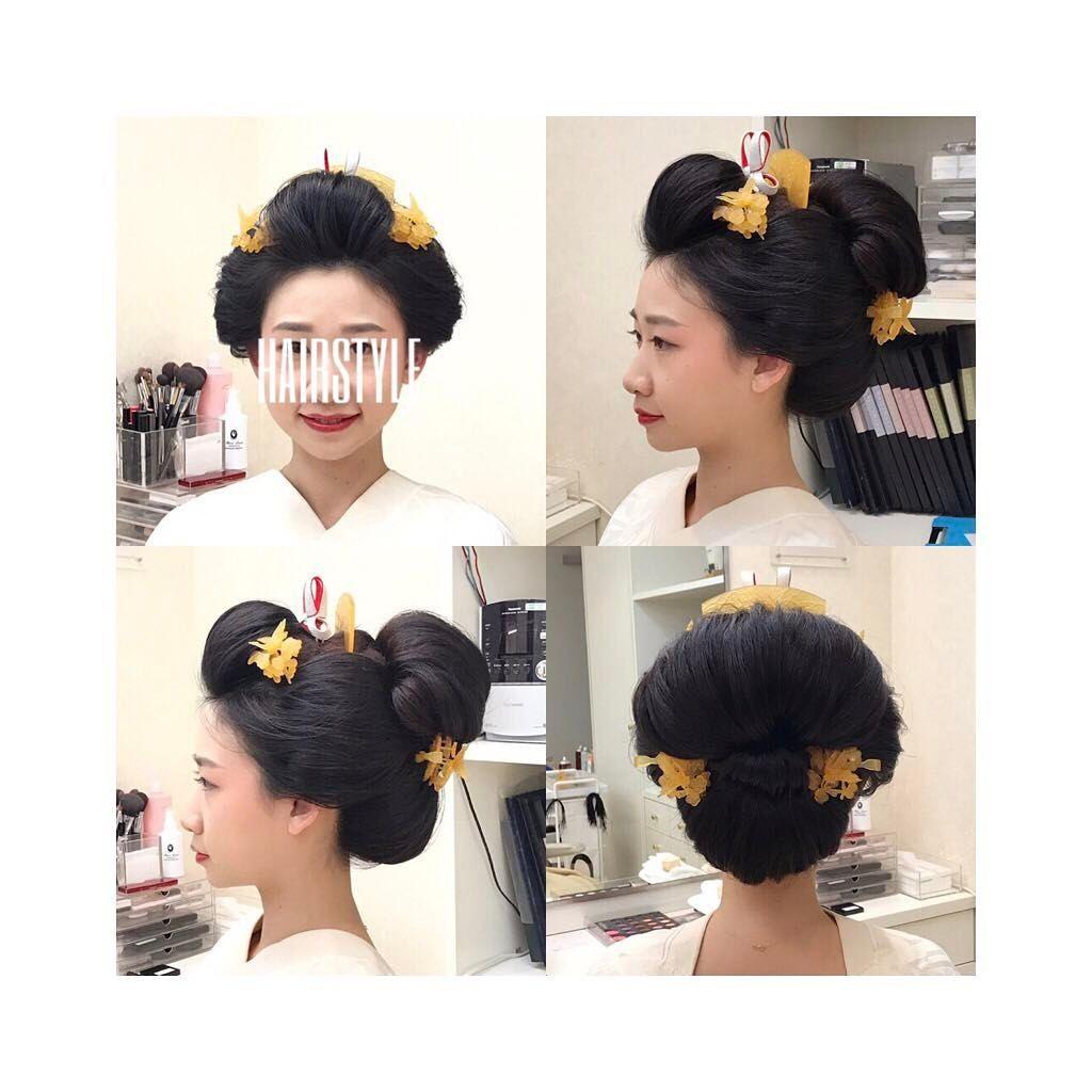 ✳︎新日本髪✳︎ . 神楽殿でヘアメイクリハーサルをしました ...