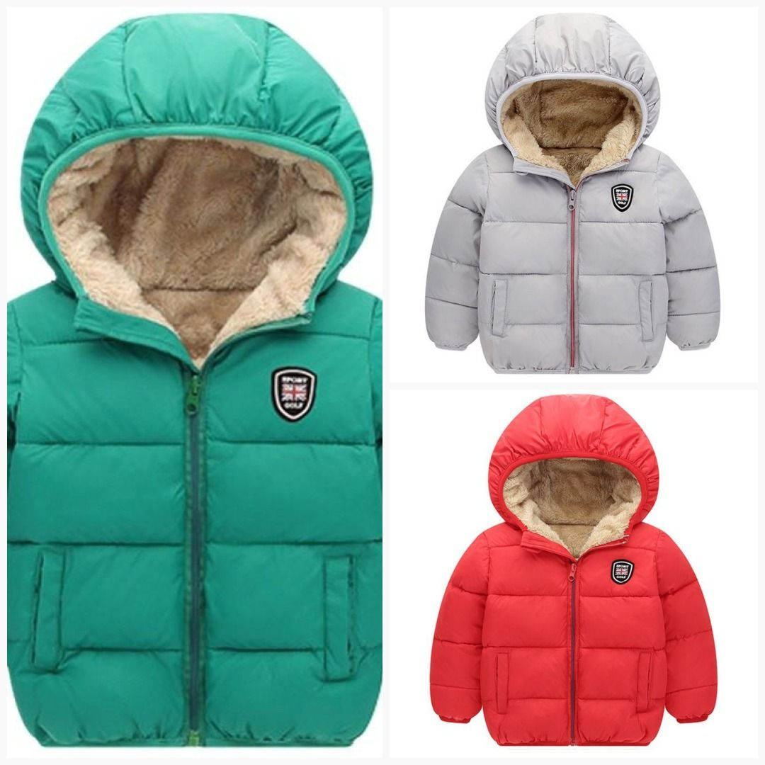 a13823cc7a41 Winter Thick Velvet Kids Girls Boys Coat Warm Children s Jackets ...