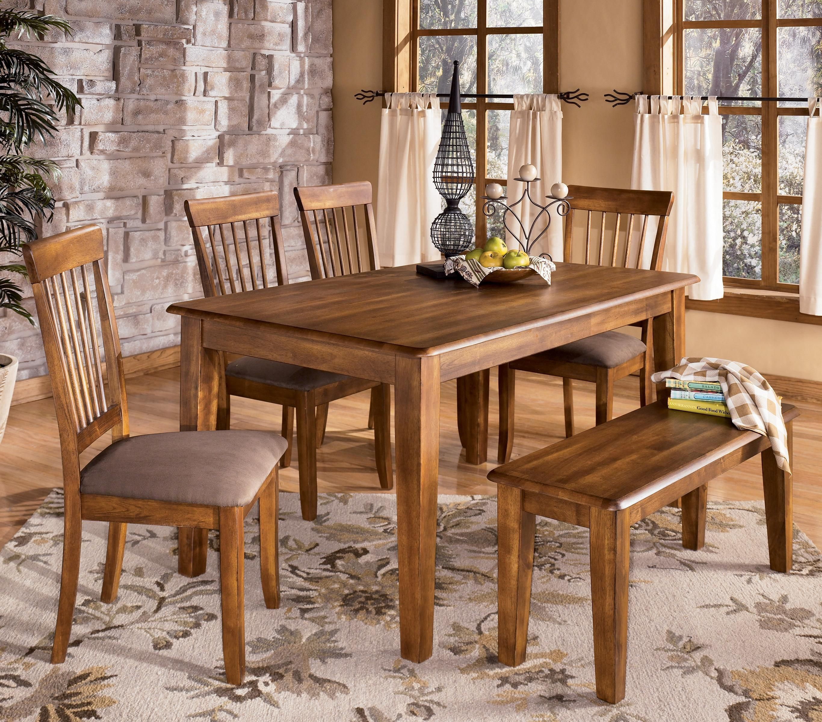 Berringer 7 x 7 Table with 7 Chairs & Bench by Ashley Furniture