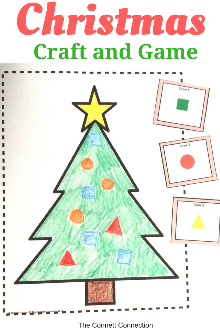 Decorate Your Tree And Practice Shape Recognition And Counting At The Same Time Students Will Draw Or Glue Christmas Tree Crafts Shapes Activities Tree Crafts