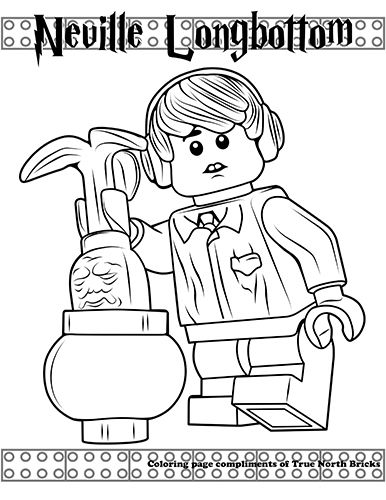 Coloring Page Neville Longbottom True North Bricks Harry Potter Coloring Pages Lego Coloring Pages Lego Coloring