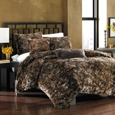 Savannah Cat Faux Fur Duvet Cover Set Bed Bath Beyond Duvet