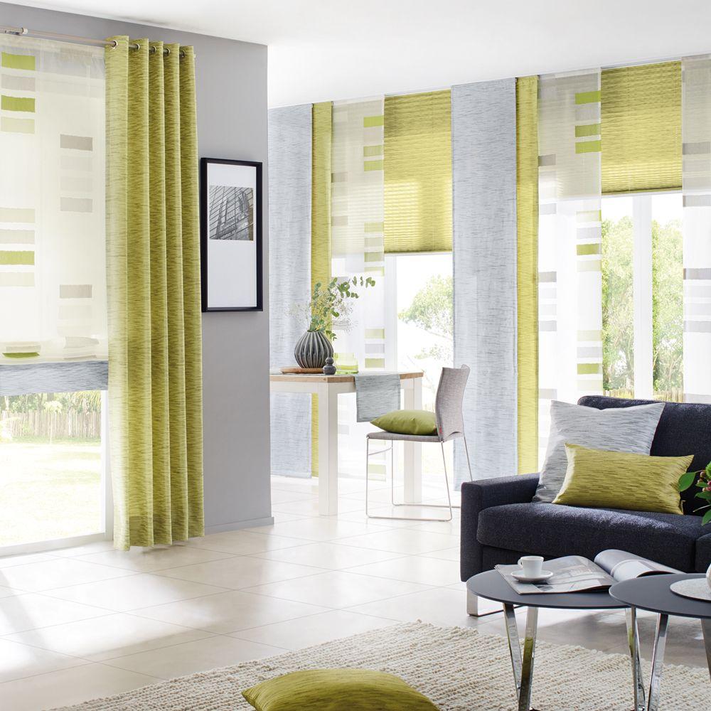 Dekostoff Meliert In Grün Und Grau 140 Cm Breit Store Raumhoch Als Raffrollo Ver Vorhänge Fürs Wohnzimmer Gardinen Wohnzimmer Modern Vorhänge Wohnzimmer