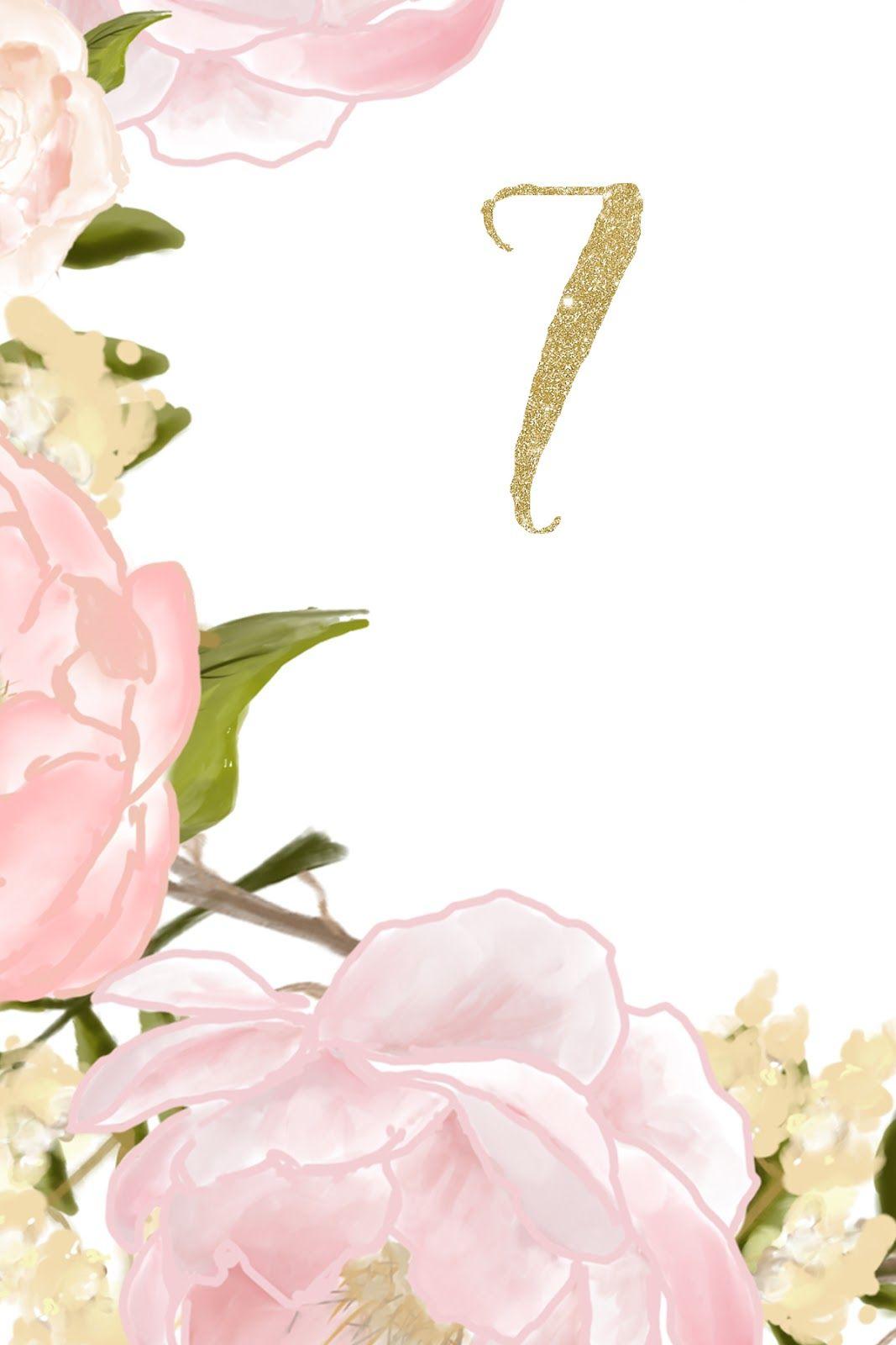 Flores En Rosa Números Para Mesas De Boda Para Imprimir Gratis Boda Para Imprimir Gratis Numeros Para Mesas Mesas De Boda