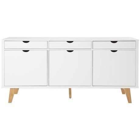 frieda 3 door 3 drawer buffet - White Buffet