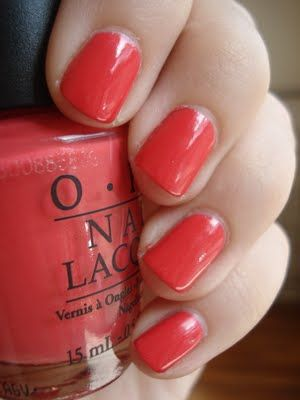 OPI I Eat Mainely Lobster is my latest obsession. Even better? It comes in gel. Via: Short 'n Chic