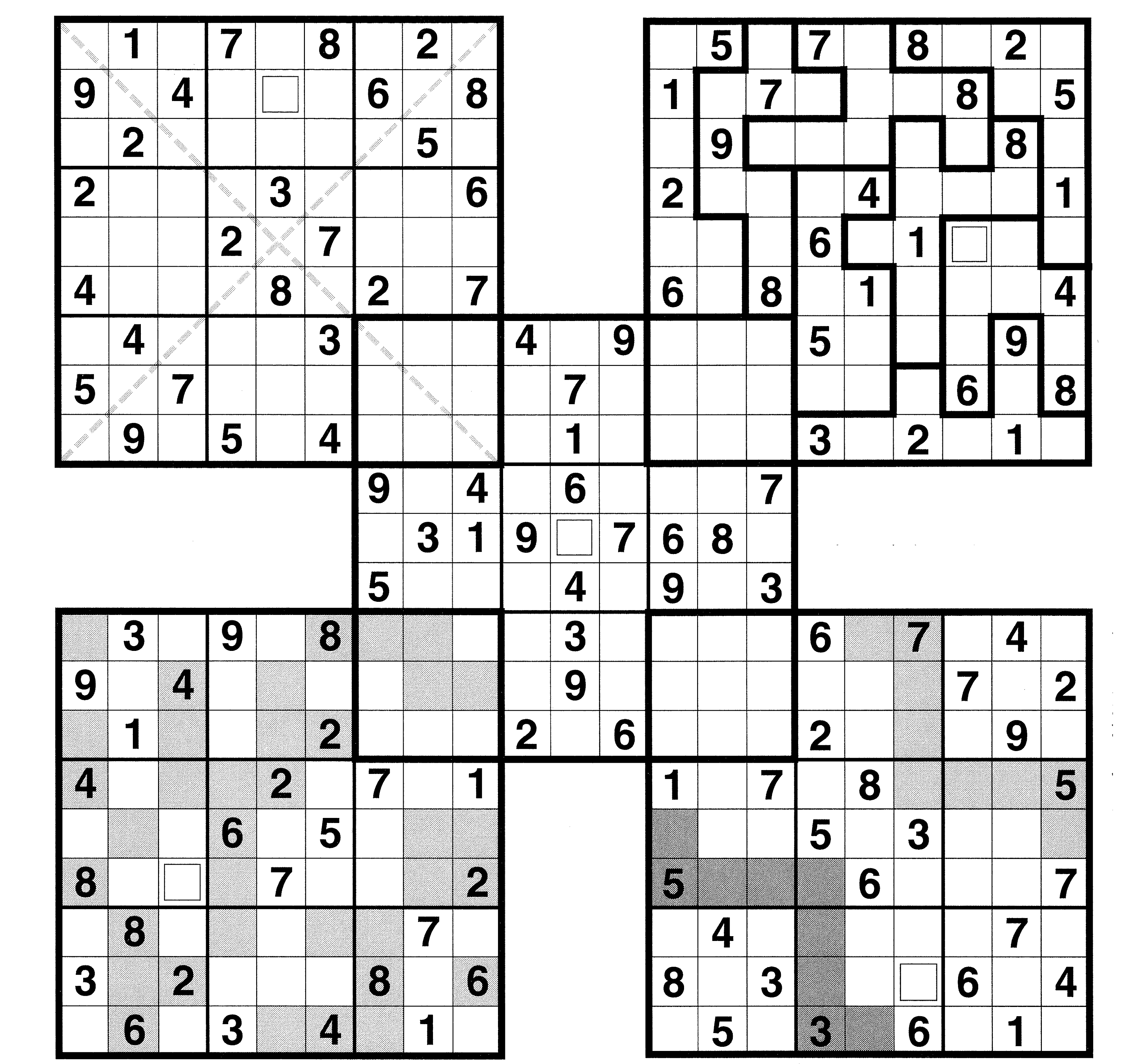 It is a graphic of Delicate Multi Sudoku Printable