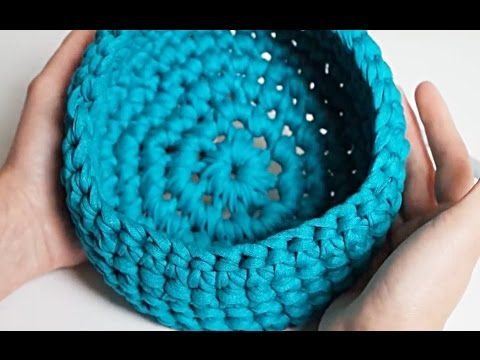 Tuto Facile Panier Au Crochet En Zpagetti Youtube Cosulete