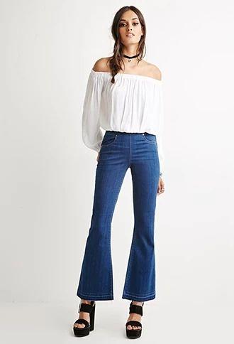 Fray Flared Jeans | Forever 21 #forever21denim
