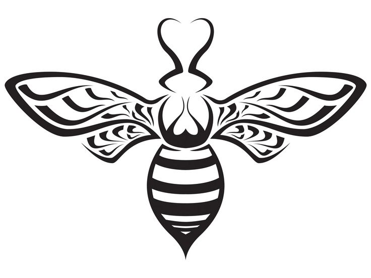 honey bee silhouette | Found on tattoo-wallpapers.com.....but in ...