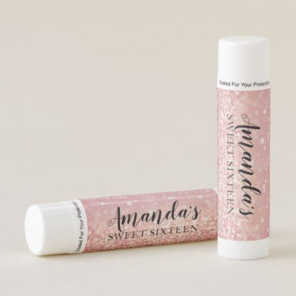 Personalized Lip Balm Party Favor Rose Gold
