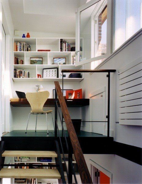 Lofty Inspiration Elevated Home Offices Tiny spaces, Spaces and