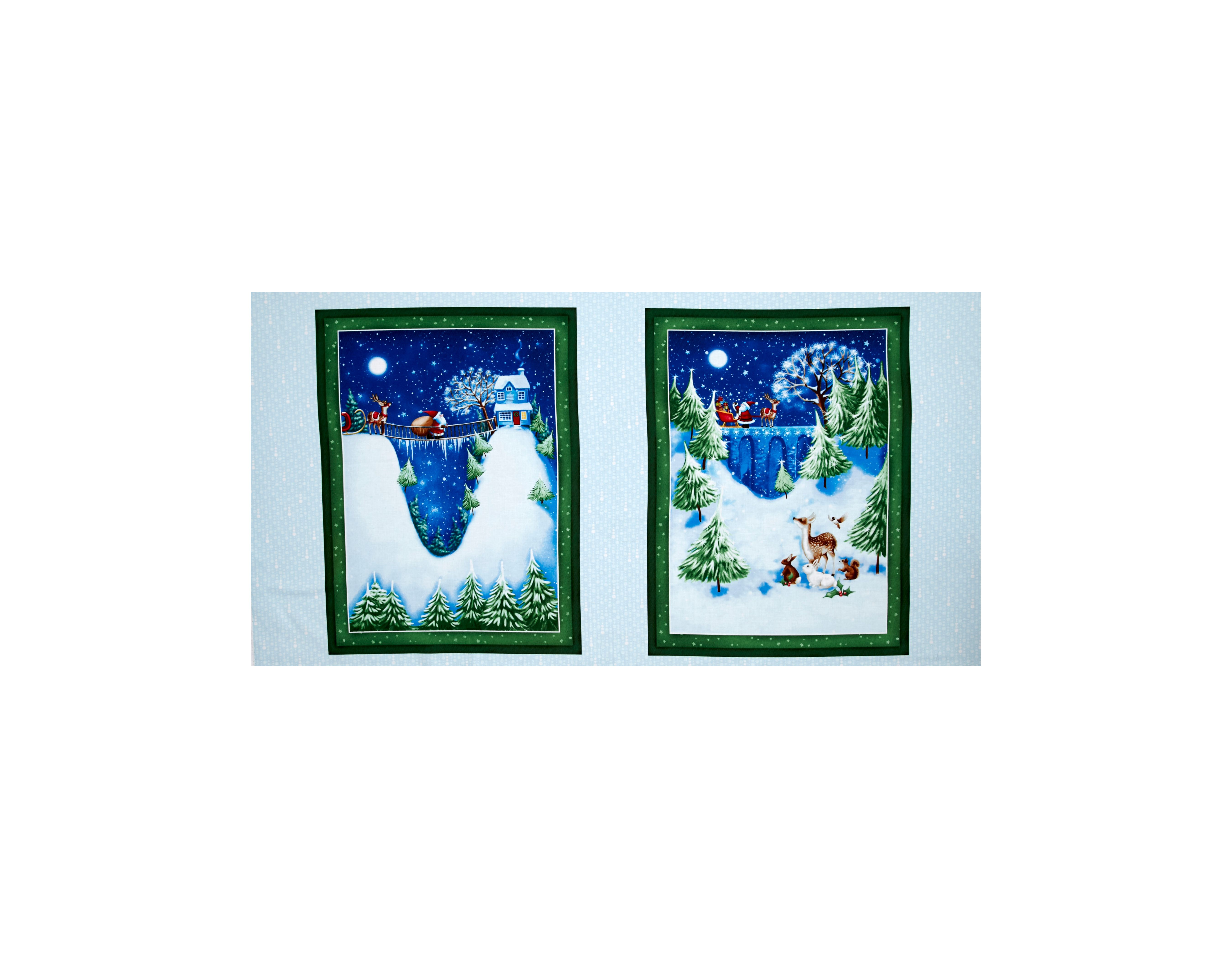 Christmas Village 24'' Panel Multi Fabric By The Yard