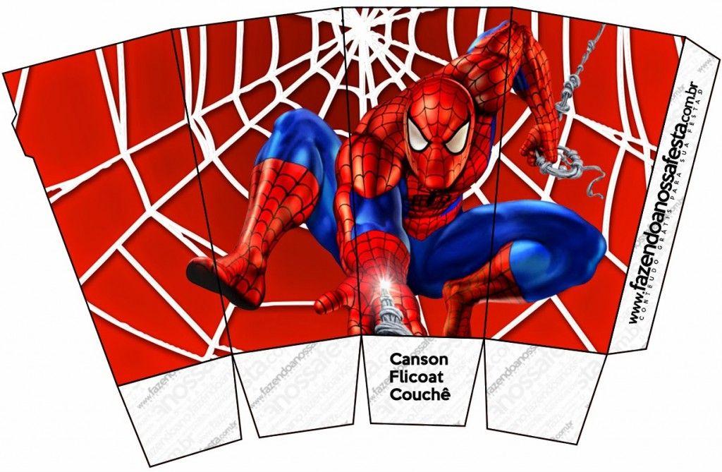 Caja para palomitas de maíz de Spiderman para imprimir | SUPERHEROES ...
