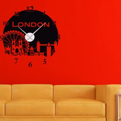 Style and Apply London Wall Clock Wall Decal Color: Royal Blue