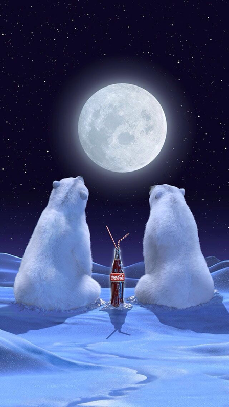 Coca Cola Christmas Polar Bears Wallpaper For Iphone And Android