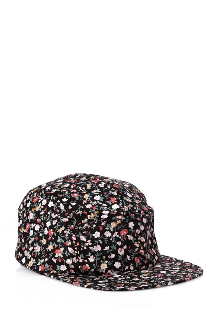 4264839d8e6 Floral Print Five-Panel Hat  21Men