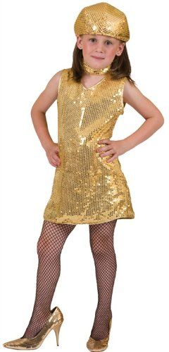 Disco Dress Gold Child Medium by Funny Fashion ** For more information, visit image link.