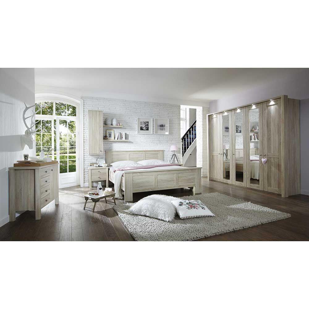 Schlafzimmer Komplettset in Eiche Sägerau online kaufen (8-teilig ...