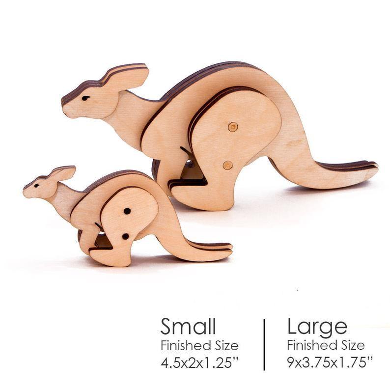 Wooden Kangaroo Toy Kit
