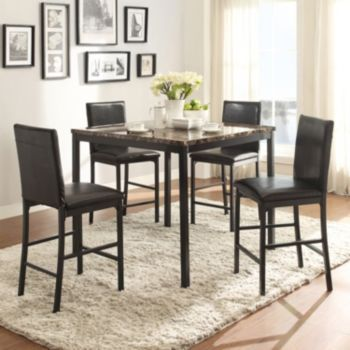 homevance catania 5piece dining table u0026 counter chair set - Kitchen Table And Chair Sets