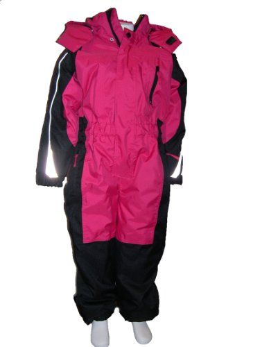 a242cbace Girls and Toddlers One Piece Insulated Snowsuit