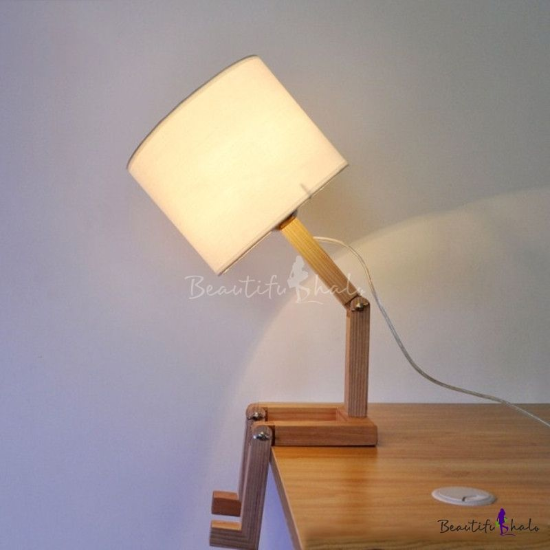 Industrial Robot Table Lamp Adjustable Diy Book Night Light