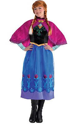 adult anna costume includes a dress and cape frozen anna costume for women also features a velour bodice with mock sleeves mandarin collar - Halloween Anna Costume