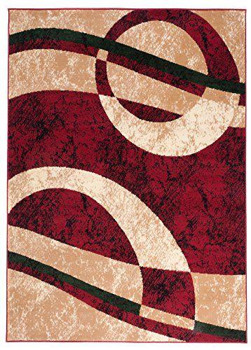 Carpeto Rugs Tapis Salon Beige 80 x 150 cm Moderne Geometrique//Monaco Collection