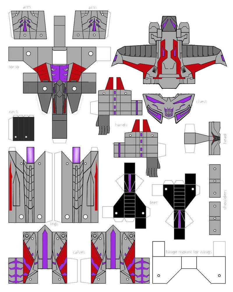Megatron Papercraft Papercraft Foc Megatron By Minibot Gears