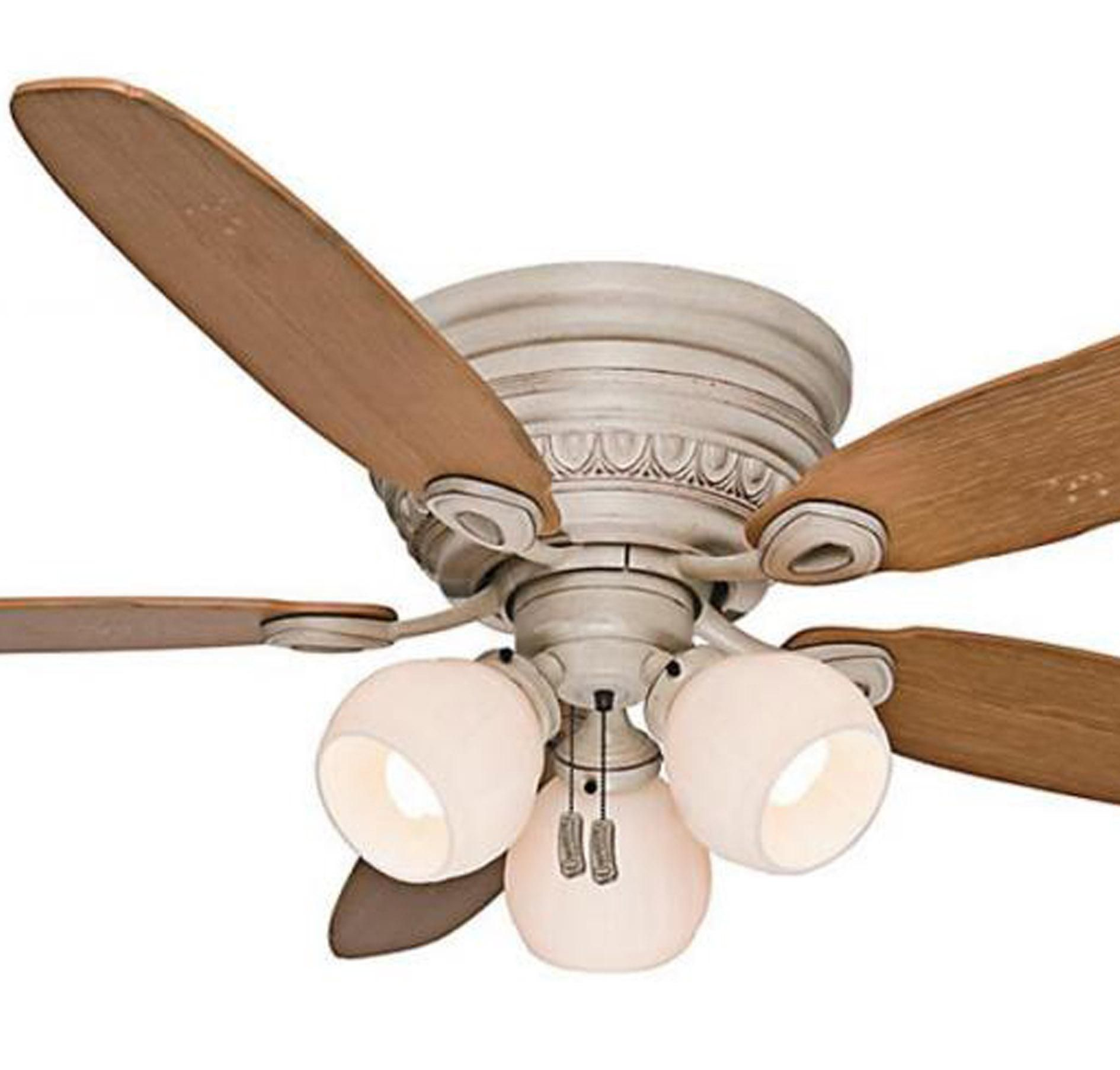 "Casablanca 54"" Caledonia Ceiling Fan in Burnished Cr¨me in Ceiling"