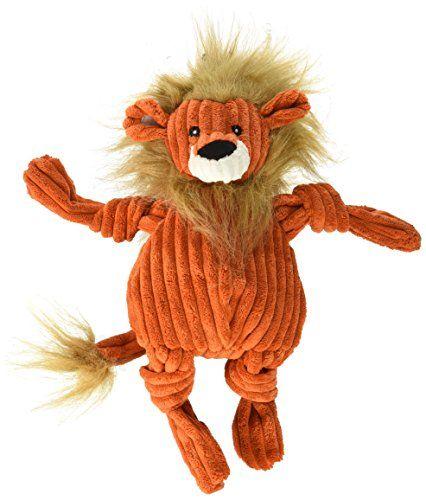 Hugglehounds Plush Corduroy Durable Lion Knotties Large Orange And