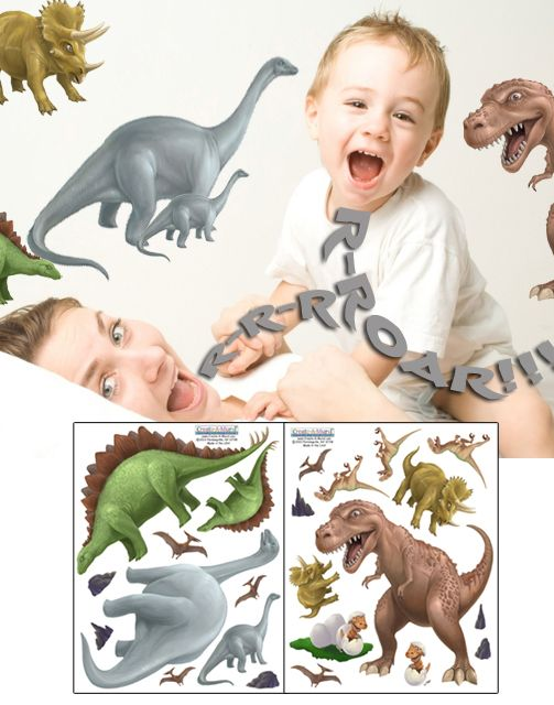 Create-A-Mural - Dinosaur Wall Stickers, $19.99 (http://www.create-a-mural.com/products/dinosaur-wall-stickers.html)