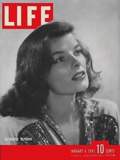 1941 Life Magazine Cover - Katharine Hepburn Photo   Magazines ...