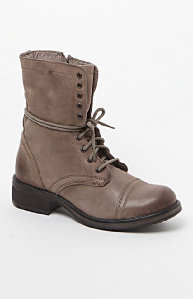 Steve Madden Leather Troopa 2.0 Lace-Up Boots at PacSun.com