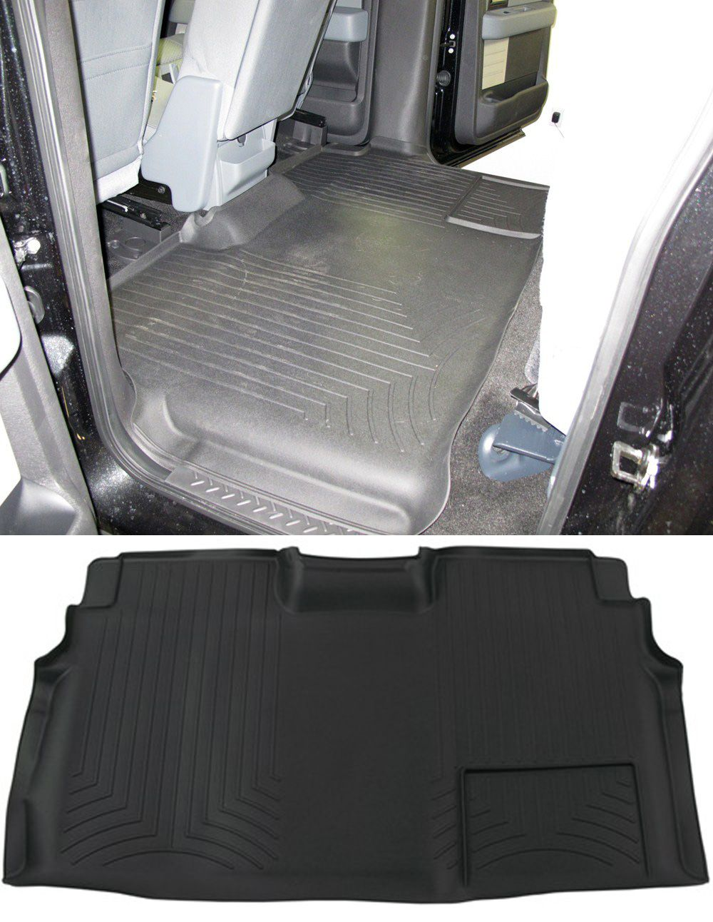 WeatherTech 2nd Row Rear Auto Floor Mat Black
