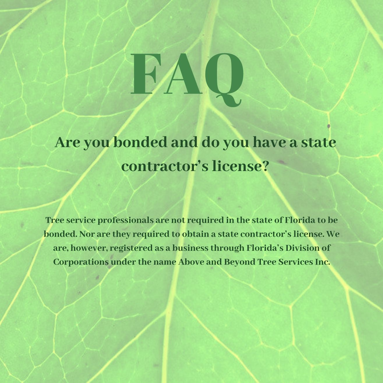 Check out our frequently asked questions!