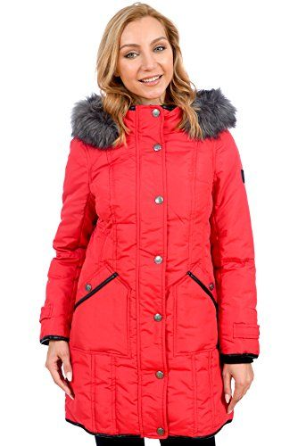 bebab8d035d RedX Canada Womens Parka Winter Coat with Faux Fur Lined Hood Red XLarge      You can get more details by clicking on the image. (This is an  affiliate link)