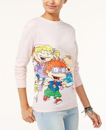 fe3ec86b7 Nickelodeon X Love Tribe Juniors' Rugrats Running Long-Sleeve T-Shirt |  macys.com