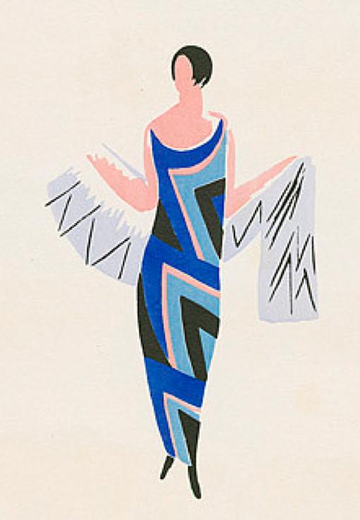 Fashion illustration by Sonia Delaunay, 1922-23. | D e l a ...