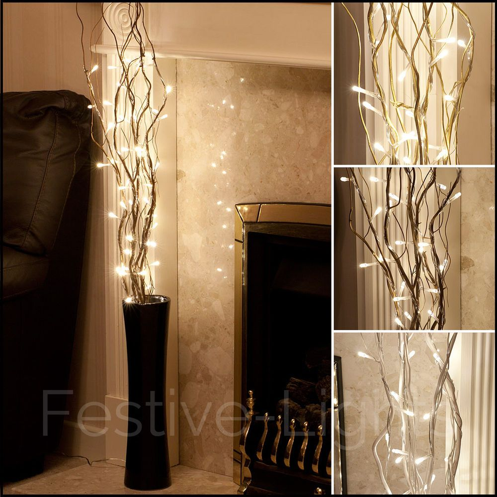 50 Led Warm White Fairy Twig Branch Vase Light Decorative