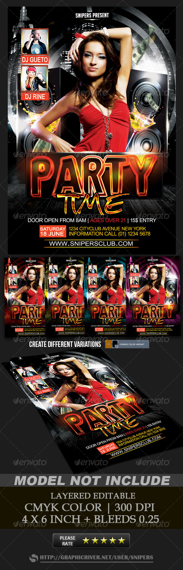 Party Time Flyer PSD Template Buy and Download http
